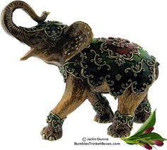 Trinket Box: Enamel and Crystal Elephant
