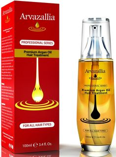 Argan Oil for Hair Treatment By Arvazallia Leave in Treatment and Conditioner * Remarkable product available now. : essential oils