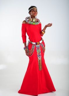 Check Out These Awesome traditional african fashion 1246 Zulu Traditional Attire, South African Traditional Dresses, Traditional Outfits, African Maxi Dresses, African Attire, African Clothes, African Fashion Designers, Printed Gowns, Africa Fashion