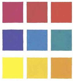 kleurtonen van de primaire kleuren