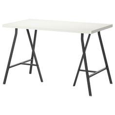 LINNMON/VIKA LERBERG Bord - hvit/grå - IKEA