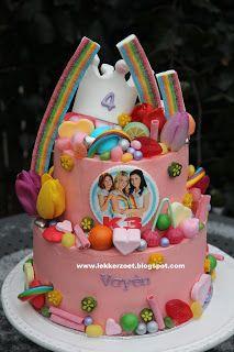 lekker zoet: K3 maar dan anders voor Vayën 4 jaar Birthday Cake, Birthday Kids, Cake Decorating, Holland, Party, Desserts, Lisa, Drinks, Food