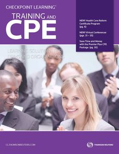 Download a copy of the Spring 2015 CPE and Training for Firms and Organizations  catalog. This issue provides an overview of everything learning administrators and  decision-makers need to design their teams' 2015 learning plans. Live seminars  nationwide, in-house seminars, online learning and self-study courses. #CPE #Tax #Accounting #CPA