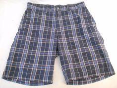 POLO RALPH LAUREN Mens Shorts Size 32 Flat Front Plaid Cotton Prospect Short #PoloRalphLauren #mensshorts #shorts
