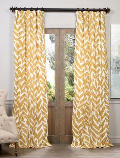 Sahara Desert Printed Cotton Curtain - SKU: PRTW-D04 at https://halfpricedrapes.com