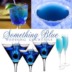 """In the past few weeks we've covered """"Something Old"""", """"Something New"""" and """"Something Borrowed"""" cocktails. This week, we feature a few of our favorite """"Something Blue"""" cocktails for your wedding! What a fun way to be ceative and int Yacht Wedding, Wedding Reception, Our Wedding, Dream Wedding, Wedding Blue, Wedding Ideas, Trendy Wedding, Wedding Inspiration, Something Blue Wedding"""