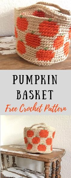 Free Crochet Pumpkin Basket Pattern—the perfect crochet Fall decoration! Use it for home decor, or for a Halloween candy basket for the kids! Free and easy tapestry crochet pattern. home decor basket Pumpkin Basket—Free Crochet Pattern Free Form Crochet, Crochet Simple, Crochet Gratis, Crochet Diy, Kids Crochet, Crochet Ideas, Crochet Pour Halloween, Halloween Crochet Patterns, Tapestry Crochet Patterns