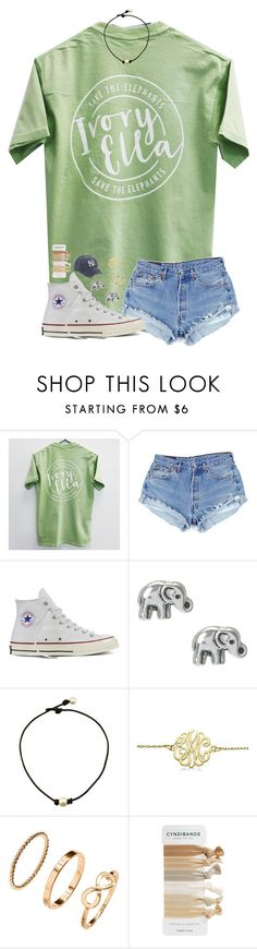 """Ivory Ella "" by mmprep ❤ liked on Polyvore featuring Converse, Allurez, H&M and American Needle"