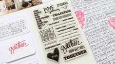 Gatherings Story Stamp™ at aliedwards.com