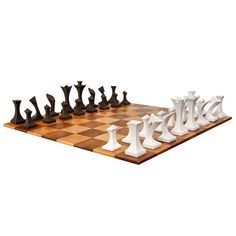 Modern Chess Set by Robert Lander | From a unique collection of antique and modern games at http://www.1stdibs.com/furniture/more-furniture-collectibles/games/