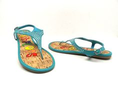 Fish Flops Women's Cabo Sandals Turquoise Size 11 New! *** For more information, visit image link.