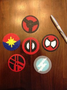 Marvel comics superhero perler bead by Mattsterpieces on Etsy