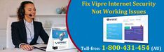 To Fix #Vipre_Internet_Security Not Working Issue find here the right steps discussed by the computer experts having extensive knowledge and experience to troubleshoot Vipre antivirus issues. Contact 1-800431454 for online help to fix Vipre internet security issue on windows or Mac computers.