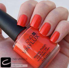 #ASpassoConVinylux - CND Vinylux Electric Orange, un  colore decisamente estivo! tw @Vania_p
