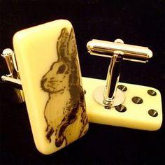 Bunny Rabbit Cuff Links