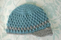 Alli Crafts: Free Pattern: Deeply Textured Hat - Toddler. Has link to other sizes preemie-12 months.
