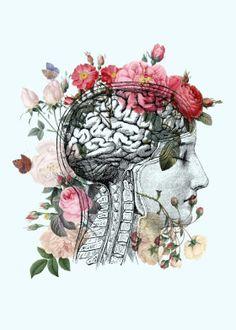 Beautiful Brain Art Print by Catherine Holcombe - X-Small Psychology Wallpaper, Art Psychology, Brain Poster, Brain Tattoo, Brain Art, Medical Art, Grey Art, Anatomy Art, Human Anatomy