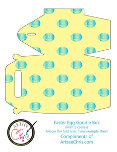 The Artzee Blog: Free Easter Egg Goodie Box Printable