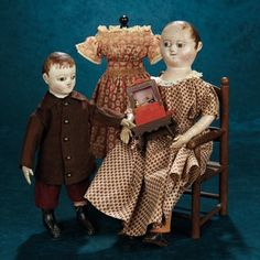 Extremely Rare Small Size of the American Cloth Folk Doll by Izannah Walker 11,000/14,000 | Art, Antiques & Collectibles Toys & Hobbies Dolls | Auctions Online | Proxibid