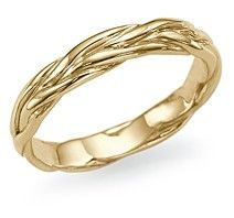 """Unique Designer """"Twisted Vines"""" Antique Style Wedding Ring in 14k/18k Yellow Gold - I love gold bands!"""