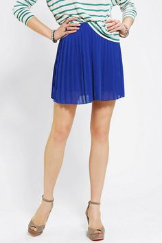 Sparkle & Fade Pleated Chiffon Mini Skirt #urbanoutfitters