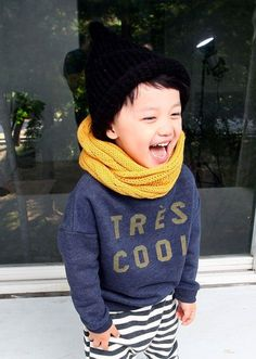 So, so cool. Now that it's getting colder, it's time to break out those scarfs! | Kids Style | Austlen Baby Co.