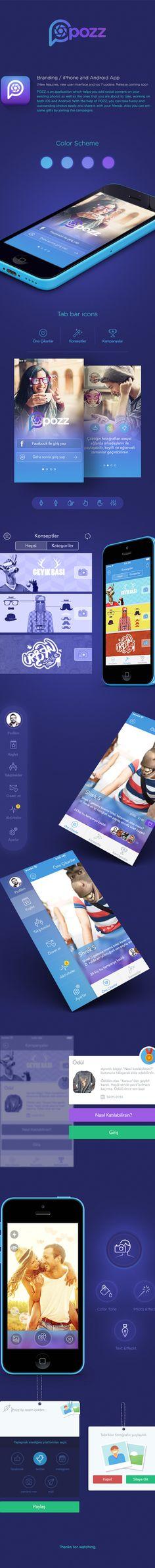 Pozz App by Murat Gürsoy, via Behance