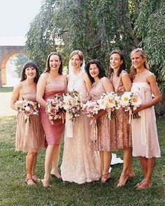 74da3e3dbea54 Ms Polka Dot gives brides advice about styling your wedding party with  mismatched bridesmaids gowns