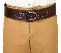 Powder Belt - Plain Brown Leather