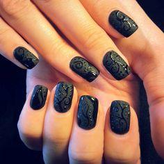 #nails #blacknails mattenails