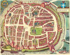 Map of Zwolle, The Netherlands 1581 - Braun & Hogenberg
