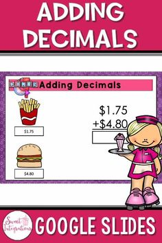 This Google Slides math activity is perfect for adding and estimating decimals. This real world math activity is self-correcting. It's perfect for fourth graders and distance learning. #addingdecimals #decimals
