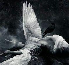 Fan art. Luce as an angel from the Fallen series by Lauren Kate