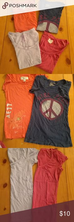 American eagle shirts 4 American Eagle shirts all size extra small in good used condition American Eagle Outfitters Tops