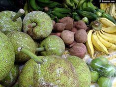 Fruit à pain,patate douce,concombre,banane jaune.....