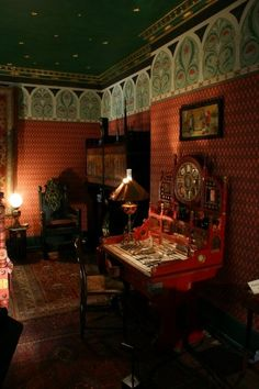 William Burges interior.  The Victorian Aesthetes sure knew how to do it right.