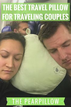 Whether it is a two hour flight or a 10 hour flight, falling asleep and getting comfortable is never easy. We have tried the neck pillows, sleeping on each others shoulders, using blankets between the window and our head – nothing ever seems to work…until now. The PearPillow is made for traveling couples, but we have found it to be useful for solo travelers as well. The PearPillow is quite versatile, comfortable and easy to travel with. Check out our post for more info.