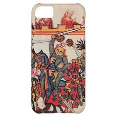 MEDIEVAL TOURNAMENT, FIGHTING KNIGHTS AND DAMSELS COVER FOR iPhone 5C