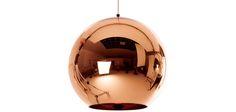 Lampe Suspension Copper Shade Tom D Style - 25 cm - Métal Chromé