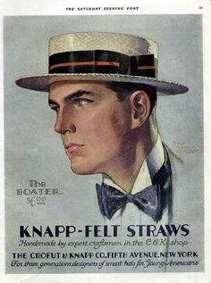 nice look for a nice representable man The Boater hat for men, it was more modern and use full during morning time events .