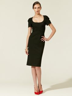 Woven Tiered Cap Sleeve Dress by Zac Posen