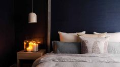 Darren and Dea Master Bedroom 1 from the Block   moody interior   luxe and class   beautiful room