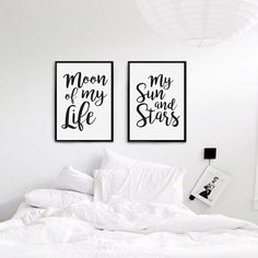 Moon Of My Life My Sun and Stars Bedroom Art by LovelyPosters