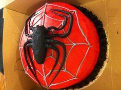 Spider-Man cake.  Made by Maureen Vongphrachanh