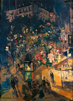 Paris, 1926 - by Konstantin Korovin a Russian Impressionist Paris At Night, Russian Art, Nocturne, Painting & Drawing, Art Photography, Art Gallery, Illustration Art, Images, Louvre