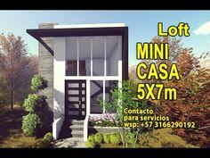 Small Modern House Plans, Homes, Mini, Outdoor Decor, Youtube, Ideas, Loft House, Modern Tiny House, Houses