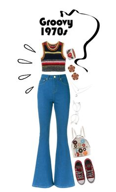 """..."" by d-espacito ❤ liked on Polyvore featuring Lilly Sarti, Converse, Fendi, Allurez and Old Navy"