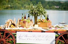 Discover the best ideas for Wedding Reception! Read articles and watch videos about Wedding Reception. Reception Food, Outdoor Wedding Reception, Paella Party, Cheese Table, Wine And Cheese Party, Wine Cheese, Apple Decorations, Wine Table, Food Displays