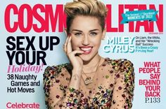 Science and Tekhnolog: Miley Cyrus Glamour Shown in Cosmopolitan Magazine Cover