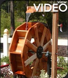 Water Wheel Fountain Plans